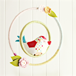 perched birdie | nursery mobile | hoop room decoration