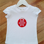 Girls Red & White Christmas Bauble Tshirt Size 1-5