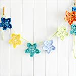 star garland | crochet | nursery bedroom decoration | baby boy gift