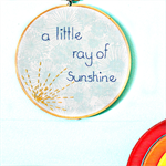 sunshine hoop   textile accessory   baby nursery bedroom decoration