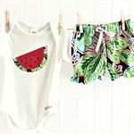 spring burst   baby bloomer shorts & watermelon onesie   size 00