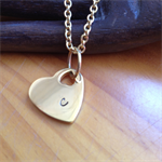 'Taygete' Gorgeous Handstamped Gold Heart pendant
