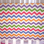 Rainbow Chevron Pram/Bassinet Blanket