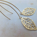 Small Gold Leaf Earrings