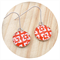 Red & White Sterling Silver & Resin Earrings