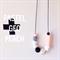 Peach Pastel Geo Teething Necklace