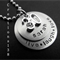 Personalized hand-stamped Live Laugh Love 16 21 30 40 50th Birthday Necklace