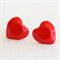 Large Faceted Red Heart Earrings