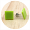 Lime Green Acrylic Earrings - Square