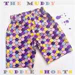 Size 2 OR 3 Boys Bright Geometric Pattern Muddy Puddles Shorts 100% Cotton