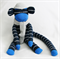 Sock Monkey Craft Kit Navy Blue Stripes with Grey