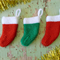 3 x Knitted Mini Christmas Stockings - Great for Friends, Colleagues, Teachers
