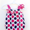 Gorgeous Summer Navy and Hot Pink Spots Baby Girl Toddler Romper Playsuit