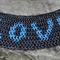 Blue Love. A chain maille cuff bracelet.