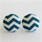 Buy 3 Get 1 Free! Teal Chevron Fabric Button Stud Earrings