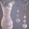 Glass, Agate and Quartz Earrings