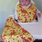 Aussie Christmas Kangaroo Bib and Burp cloth set - Medium.