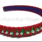 Christmas - Ribbon & Beaded Headband