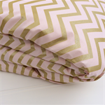 Cot Quilt Cover in Blush & Gold Chevron