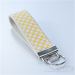 Yellow and White Spots Key Fobs
