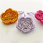 flower trio | crochet hairclips | mixed set | hot pink lilac orange