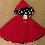 Red Riding Hood Cape - size 5