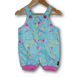 SIZE 000 Glitter Dragonflies Cotton Overalls