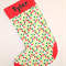 Personalised large christmas stocking - Custom made with a name - Spot design