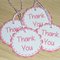 Set 10 gift tags - Perfect for loot bags / party bags - pink