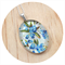 Bluebell Necklace - Sterling Silver and Resin