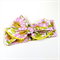 Bow Headwrap - Vintage Style Floral Print - Pink Yellow - Retro - Summer