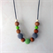 Simboo nursing necklace - spring green and rain clouds
