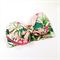 Bow Headwrap - Tropical Print - Peach Pink Green - Retro - Summer
