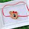 Christmas Reindeer Headband on Red Skinny Elastic