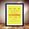 You are my sunshine print, Sunshine poster, Song lyrics print art sun summer fun