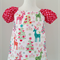 Girl's Gypsy Smock Peasant Style Christmas Reindeer & Dots Dress size 4-6