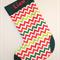 Personalised large christmas stocking - Custom made with a name - Zig zag design