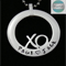 Personalised Names Pendant , XO, Family Necklace Stainless Steel