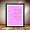 Girls bedroom art, time place moment poster, Pink artwork for little girl