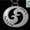 Personalised Names Pendant , Waves, Mens Stainless Steel