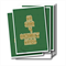 Merry Christmas card, golden typography on a green, pack/set 4,glossy, blank