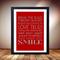 Love print, Love poster, Engagement present art, Red love print artwork