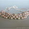 Pearl Cluster Necklace – Pink and Cream