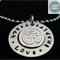 Personalised Names Pendant & Necklace with Sterling Om. Luxurious Range. Yoga
