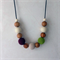 Simboo nursing necklace - wild berry and pistachio green