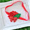 Christmas Holly Headband with Red Polka Dot Flower & Sequin Bow