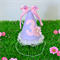 Pink and Lavender Birthday Party Hat with Ruffle Lace Trim - you choose number
