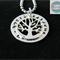 Personalised Names Pendant & Necklace with Sterling Tree of life.