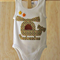 Infant boys white sleeveless onesie with helicopter applique.