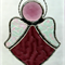 Pink Angel with Amethyst Jewel Suncatcher